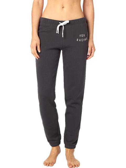 Fox Bolt Fleece Pants Women black vintage